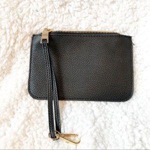 Bebe Small Black Change Purse Wallet